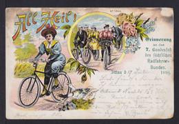 5 Pf. Privat Ganzsache Zum 7.Bundesfest Sächsischer Radfahrer Bund - Gebraucht - Cycling