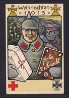 """5 Pf. Privat Ganzsache """"Weihnachten 1915"""" Vom Roten Kreuz - Ungebraucht - Christmas"""
