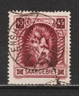 Saar MiNr. 102 III  Geprüft Hoffmann BPP (sab19) - Usados