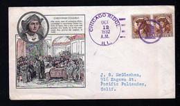 "1932 - Figurenstempel ""Columbus"" - Ill. Brief Aus Chicago Ridge - Christoph Kolumbus"