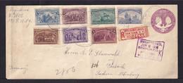 1893 - 2 C. Columbus Ganzsache Mit 7 Werten Columbus Zufrankiert Als Einschreiben Ab New York Nach Sachsen - Christoph Kolumbus