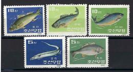⭐ Corée Du Nord - YT N° 395 à 399 **  - Neuf Sans Charnière - Thématique Poissons - 1962 ⭐ - Korea (Noord)