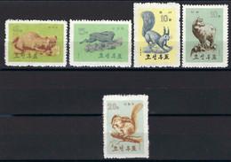 ⭐ Corée Du Nord - YT N° 431 à 435 **  - Neuf Sans Charnière - Thématique Animaux - 1962 ⭐ - Korea, North
