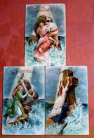 3  BELLE  POSTAL CARDS / BRILLANTE : La Foi/La Espérance/ La Charité / Onbeschreven- Niet Verstuurd Non-écrit Ou Envoyé - Otros