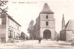 CPA - Saint-Paul - L'Eglise Et La Place - Altri Comuni