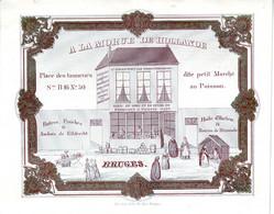 DE 723 - Carte Porcelaine A La Morue De Hollande, Fromagerie & Poissonerie, Bruges, Imp. Daveluy - Otros