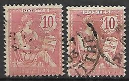 FRANCE    -   1902 .  Y&T N° 124 Oblitérés. - 1900-02 Mouchon
