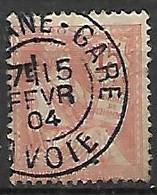 FRANCE    -   1902 .  Y&T N° 125 Oblitérés. - 1900-02 Mouchon
