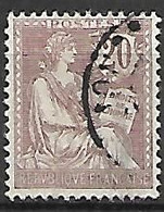 FRANCE    -   1902 .  Y&T N° 126 Oblitéré. - 1900-02 Mouchon