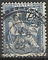FRANCE    -   1902 .  Y&T N° 127 Oblitéré. - 1900-02 Mouchon