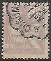 FRANCE    -   1902 .  Y&T N° 128 Oblitéré. - 1900-02 Mouchon