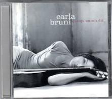 CD CARLA BRUNI Quelqu'un M'a Dit - Other - French Music