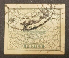 Egypte - Egypt Suez, Timbre(s) (O) Y&T 3 CV - 600€ - TB (aminci) - AM11 - 1866-1914 Khedivate Of Egypt