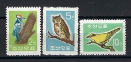 ⭐ Corée Du Nord - YT N° 295 à 297 **  - Neuf Sans Charnière - Thématique Animaux - 1961 ⭐ - Korea (Noord)