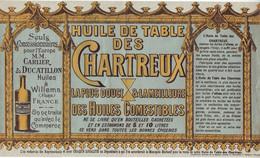 DE 724 - Advertisement Pour Huile De Table Des Chartreux Du Carlier & Ducatillon, Willems (Nord) C 1900 - 1900 – 1949