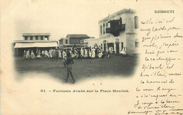 AFRIQUE  DJIBOUTI  Fantasia Arabe Sur La Place - Gibuti