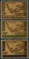2106.2104 Yemen 1968 Konrad Adenauer Gold-coloured 3 Values MNH Map - Sonstige