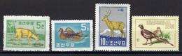 ⭐ Corée Du Nord - YT N° 200 à 203 **  - Neuf Sans Charnière - Thématique Animaux ⭐ - Korea (Noord)