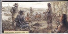 2008 FRANCE SOUVENIR PHILATELIQUE FONDATION DE LA VILLE DE QUEBEC SAMUEL CHAMPLAIN BS 27 à 32 Neuf Sous Blister - Gemeinschaftsausgaben