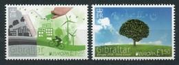 GIBRALTAR 2016 EUROPA THINK GREEN BICYCLES TREES SET MNH - Gibraltar