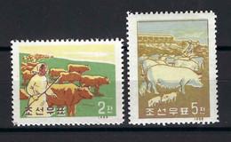 ⭐ Corée Du Nord - YT N° 178 à 179 **  - Neuf Sans Charnière - Thématique Animaux - 1959 ⭐ - Korea (Noord)