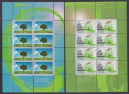 GIBRALTAR 2016 EUROPA THINK GREEN BICYCLES TREES SHEETS MNH - Gibraltar