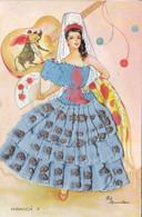 6 CARTES BRODEES - 5 - 99 Cartoline