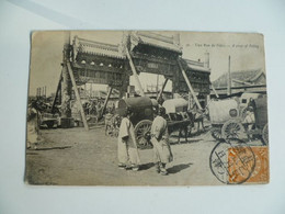 CPA / Carte Postale Ancienne / CHINE / Beijing - PEKIN  - Une Rue De Pékin - China