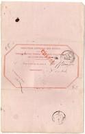 CaD 'Chargements Bordeaux' + Griffe CHARGE Sur Avis De Réception De 1882 - 1877-1920: Periodo Semi Moderno