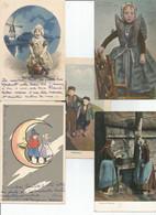 Joli Lot De 25 CPA Personnages Toutes Scannées - 5 - 99 Postales
