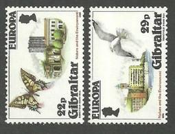 GIBRALTAR 1986 NATURE PROTECTION BIRDS BUTTERFLIES SET MNH - Gibraltar
