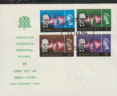 Gibraltar FDC 1966 Churchill Memorial Stamps (G133-38) - Sir Winston Churchill