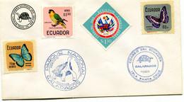 ECUADOR ENVELOPPE WITH PARROT ETC.(SPECIAL CANCELLATION.) - Papageien