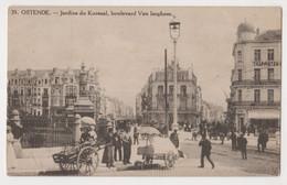 OSTENDE ,JARDINS DU KURSAAL ,BOULEVARD VAN ISEGHEM ,POSTCARD - Oostende