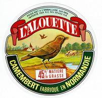 """Et. Camembert De Normandie """" L'ALOUETTE """" Import/export - Cheese"""