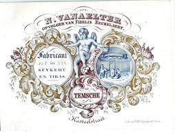 DE 729 - Carte Porcelaine De N. Vanaelter, Fabricant In Suykery En Tiras (chicoree), Temsche, Imp. Gyselynck, Gand. - Otros