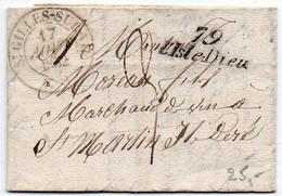Vendée : Cursive '79 / L'ISLE DIEU' (Ile D'Yeu) Sur Lettre Avec CaD De Saint Gilles Sur Vie De 1832 - 1801-1848: Precursores XIX