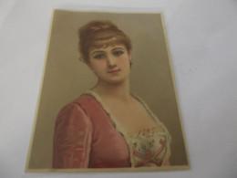 Chromo Découpis Portrait Femme 11 Cm Sur 14,5 Cm - Sonstige