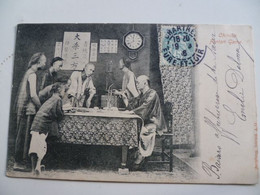 CPA / Carte Postale Ancienne / CHINE / Chinese Fantan Game - China