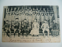 CPA / Carte Postale Ancienne / CHINE / Hong-Kong-  Chinese Pupills And Their Teachers 1907 - China