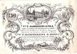 DE 731 -  Carte De Commerce Du Vve. F. Dammekens & Fils, Fabricant De Chicoree, Gand Imp. Jacqmain - Otros