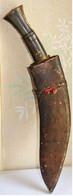 GRAND COUTEAU Ancien, Khukuri, Kukri Ou Khukri - Knives/Swords