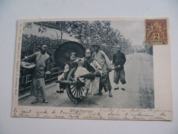 CPA / Carte Postale Ancienne / CHINE /  Chinese Wheelbarrow - Max Nossler - China