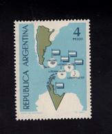 1292943418 1964 SCOTT 758  POSTFRIS (XX) MINT NEVER HINGED EINWANDFREI  - MAP OF ARGENTINA AND ANTARCTIC CLAIMS - Neufs