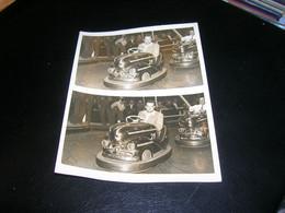 Photo 9x12 Souvenir Snapshot De La Fete Foraine Au Manege Des Autos Tamponneuses Auto Tamponneuse TBE - Sin Clasificación