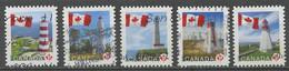 Canada - Kanada 2007 Y&T N°2333 à 2337A - Michel N°(?) O - Drapeau Et Phare - Used Stamps