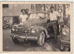 AUTO CAR VOITURE FIAT TOPOLINO TARGA TORINO - FOTO ORIGINALE - Coches