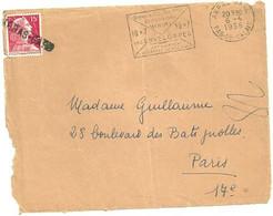 PAS De CALAIS - Dépt N° 62 = ARRAS GARE 1956 = FLAMME  SECAP' DIMENSIONS MINIMA ENVELOPPES ' + GRIFFE LINEAIRE - Reclame