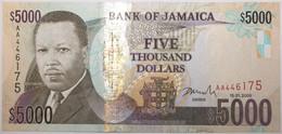 Jamaïque - 5000 Dollars - 2009 - PICK 87a - NEUF - Jamaica