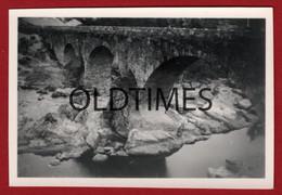 PORTUGAL - NELAS - PONTE SOBRE O MONDEGO - 1948 REAL PHOTO - Lugares
